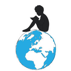 Globe with Child Sitting on Top Reading.jpg